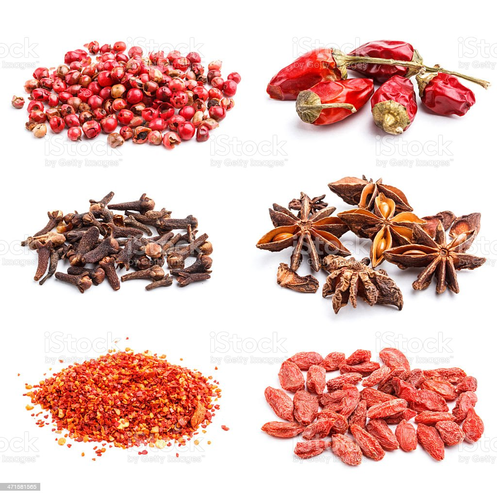 Collection of spices royalty-free stock photo
