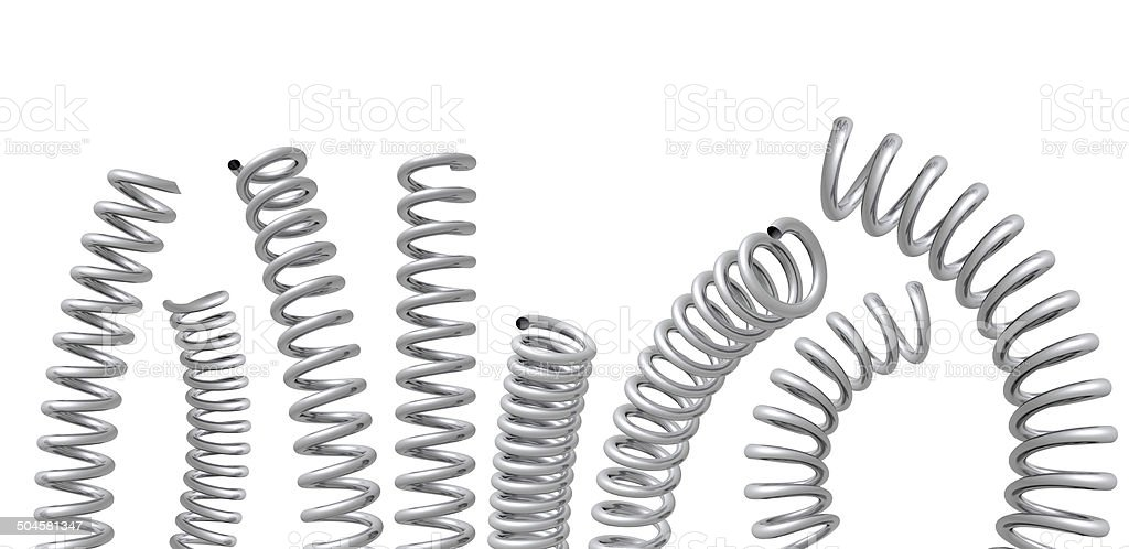 Collection of springs royalty-free stock photo