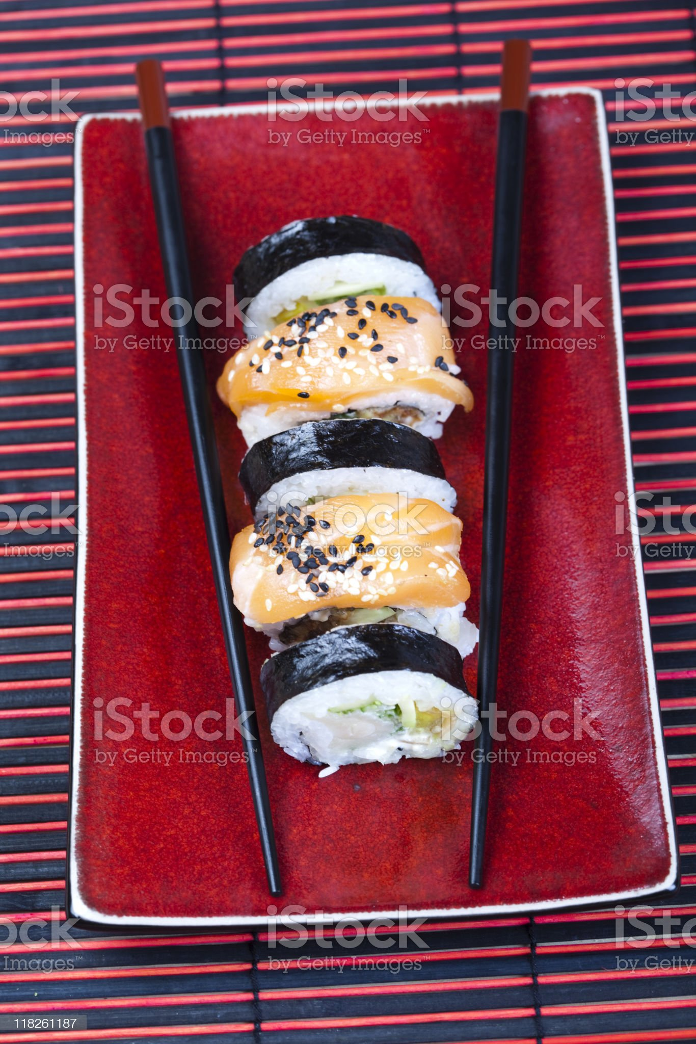 Collection of sushi royalty-free stock photo
