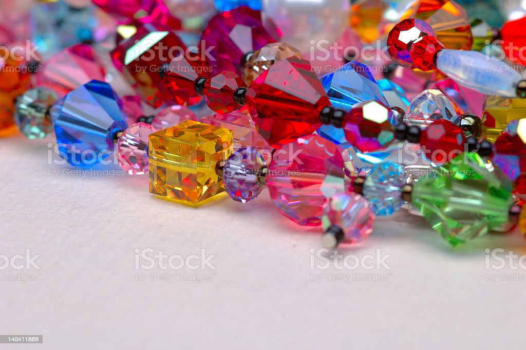 Collection of Swarovski Crystals stock photo