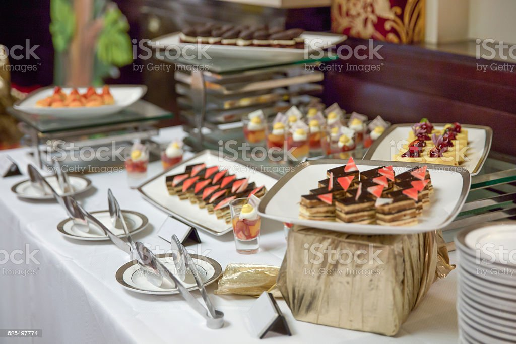 Collection of sweet dessert stock photo