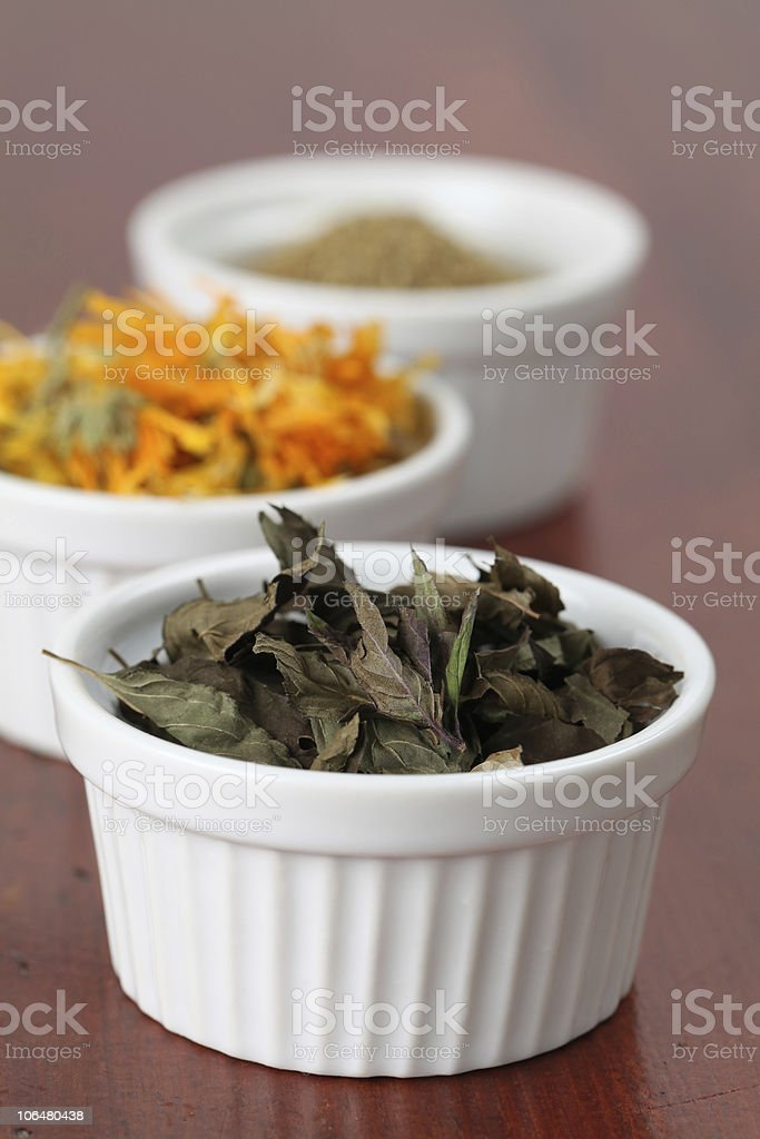 Collection of teas - mint royalty-free stock photo