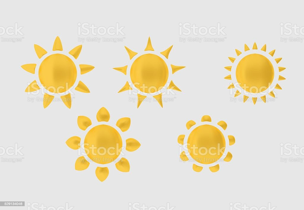 collection of the sun stock photo