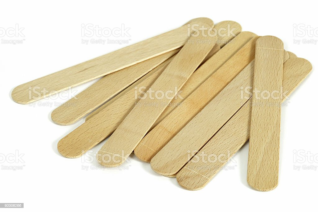 Collection of tongue depressors stock photo