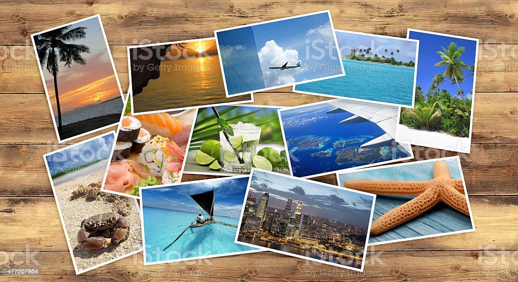 collection of tropical images stock photo
