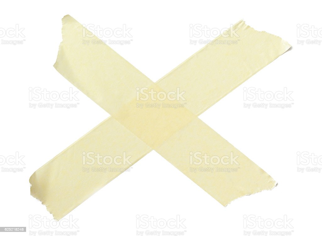 collection of various adhesive tape pieces on white background stock photo