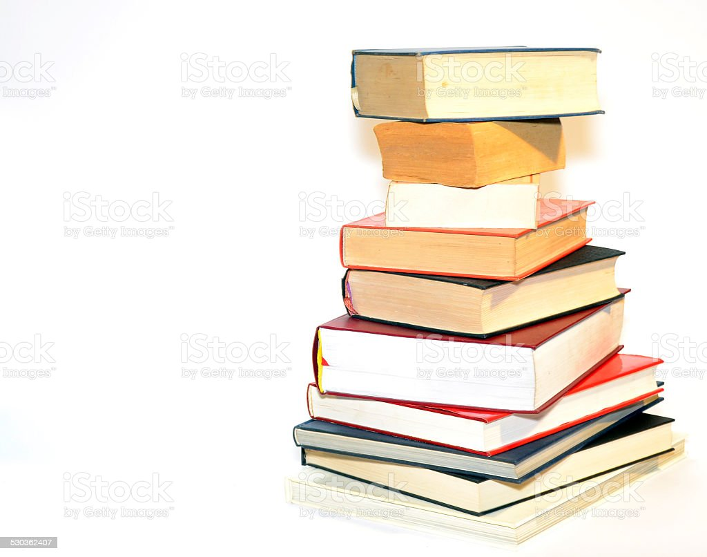 collection of various books stock photo