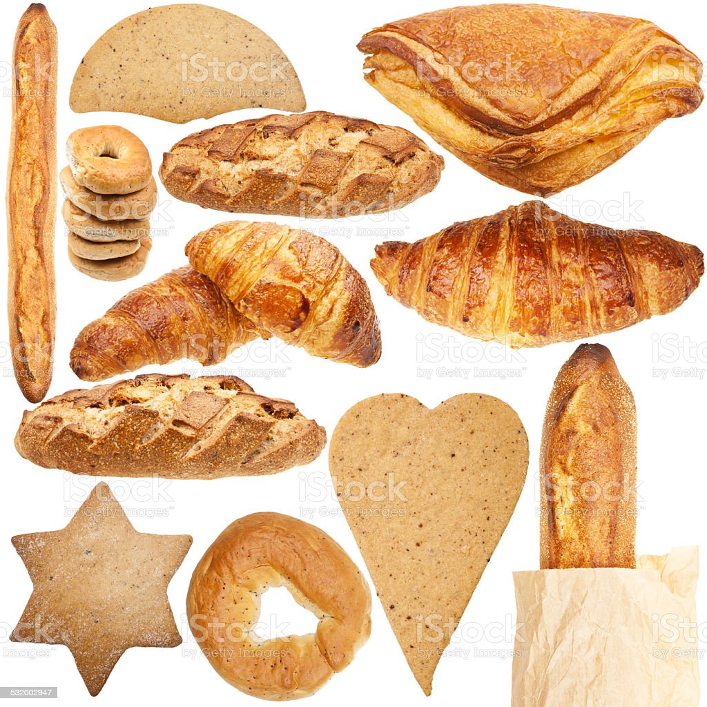 Collection of various fresh bakery stock photo