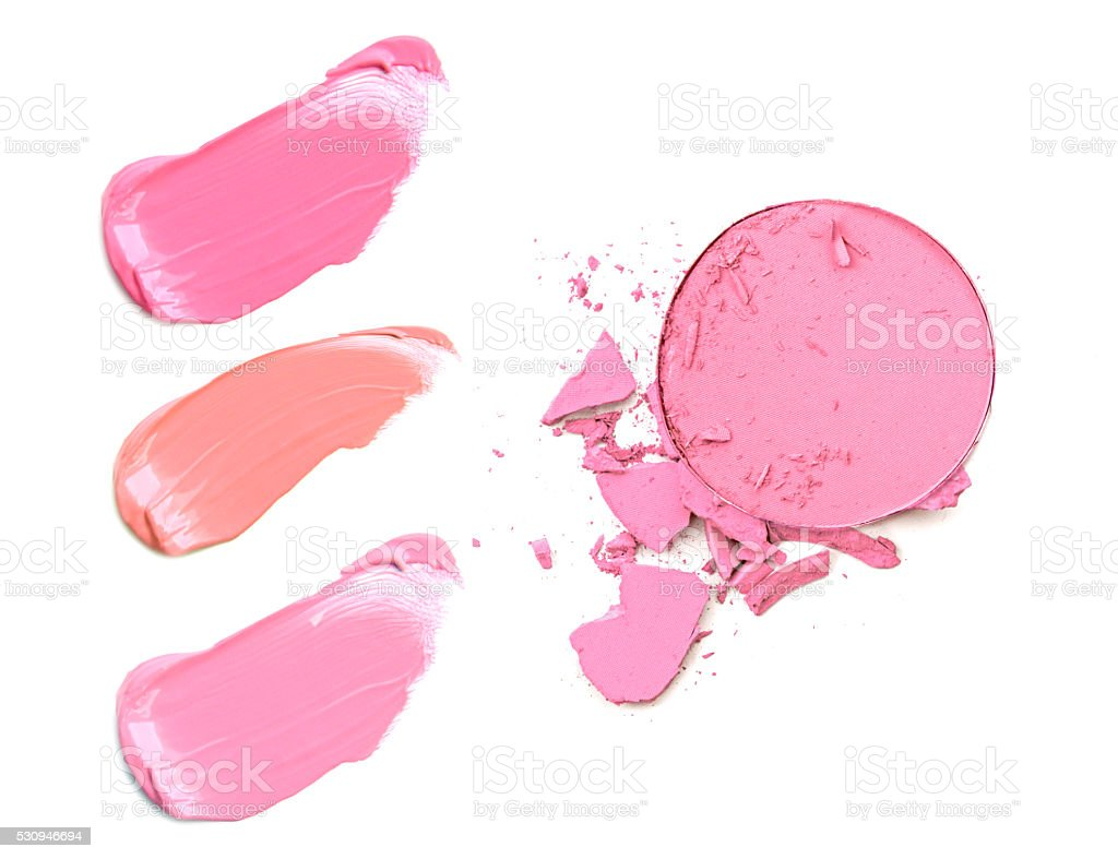 collection of various make up accessories stock photo