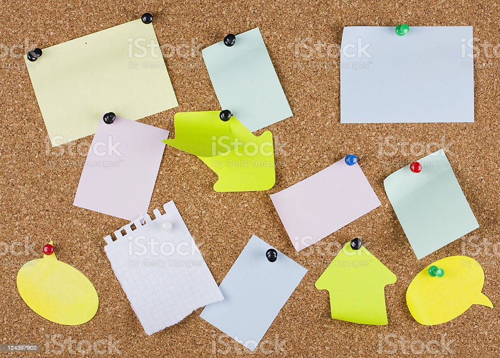 collection of various note papers royalty-free stock photo