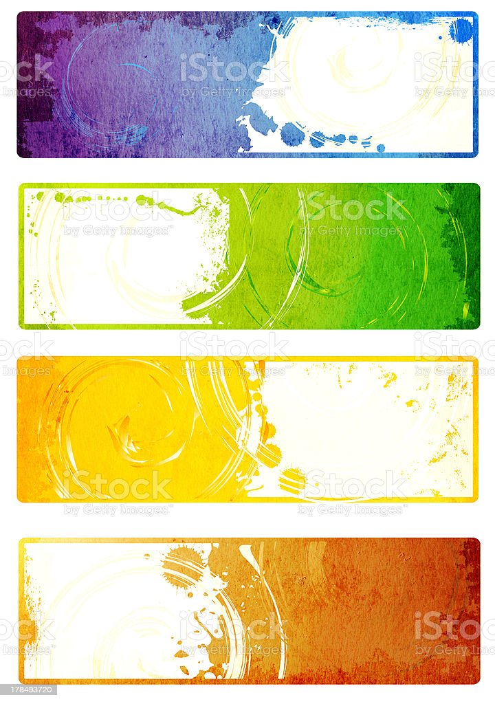 Collection of vector grunge banners royalty-free stock photo