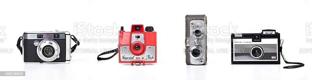 collection of vintage cameras royalty-free stock photo