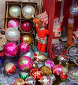 Collection of Vintage Christmas Ornaments and Decorations