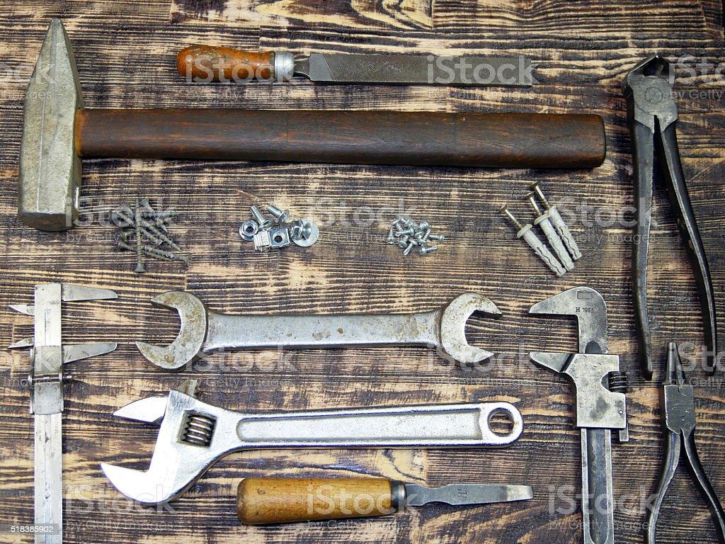 Colección de herramientas foto de stock libre de derechos