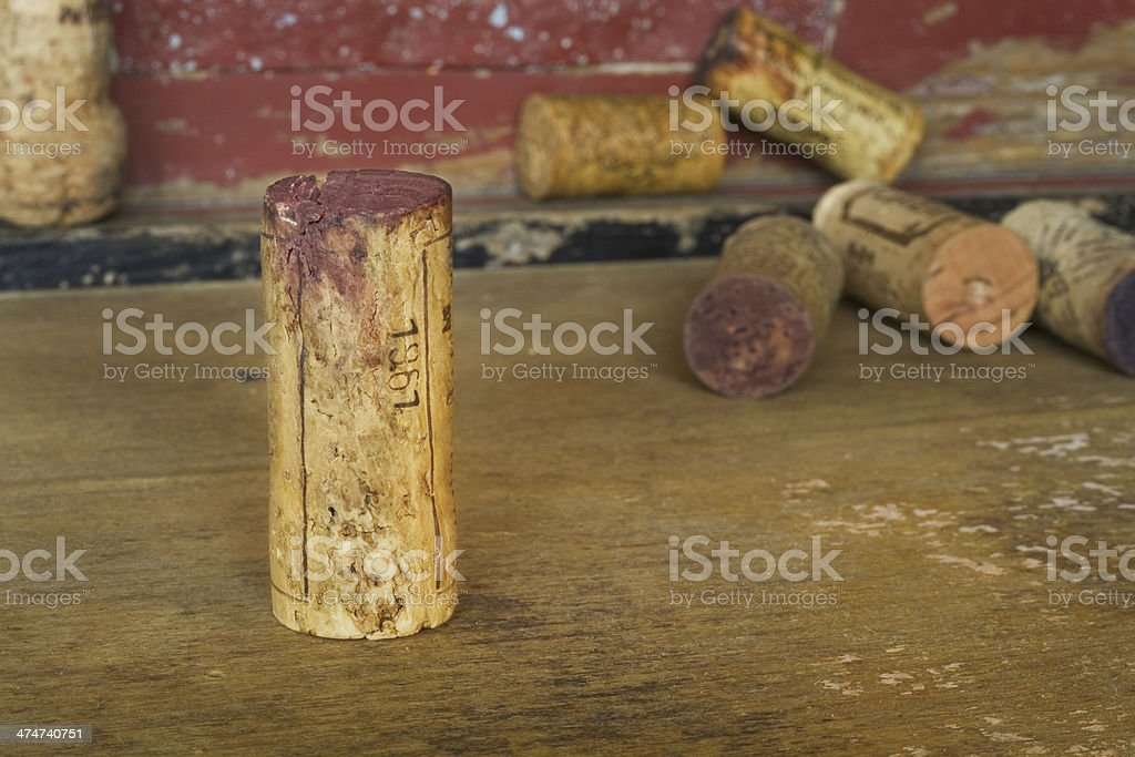 collection of wine corks royalty-free stock photo