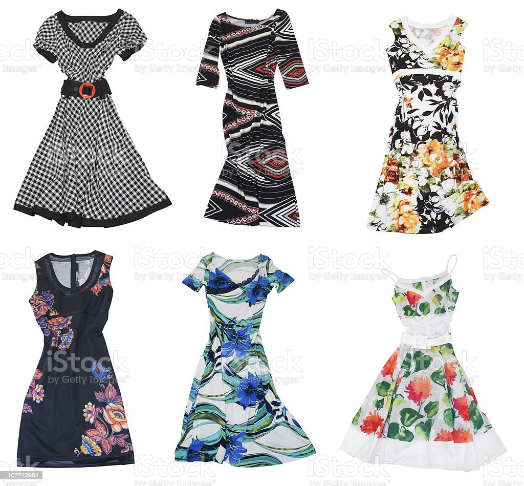 collection of woman dress stock photo