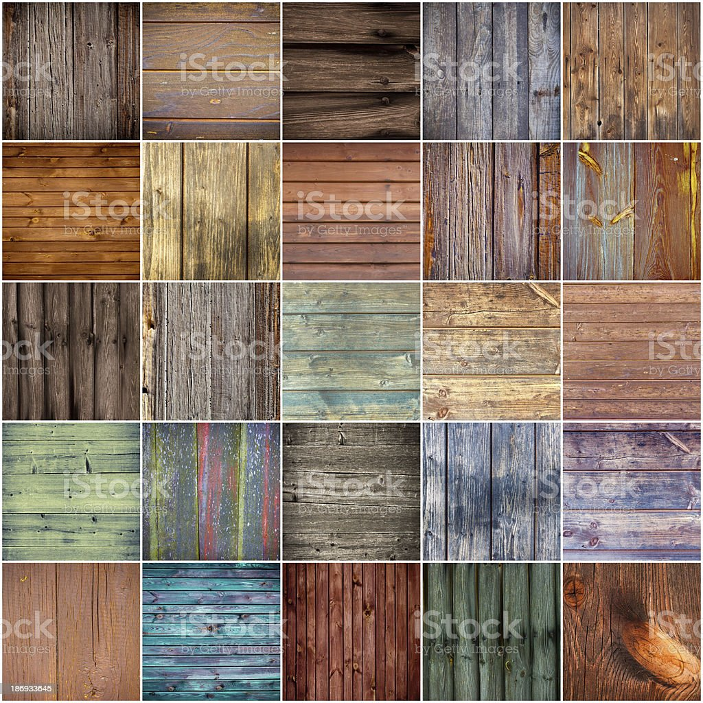 Collection of wood texture backgrounds royalty-free stock photo