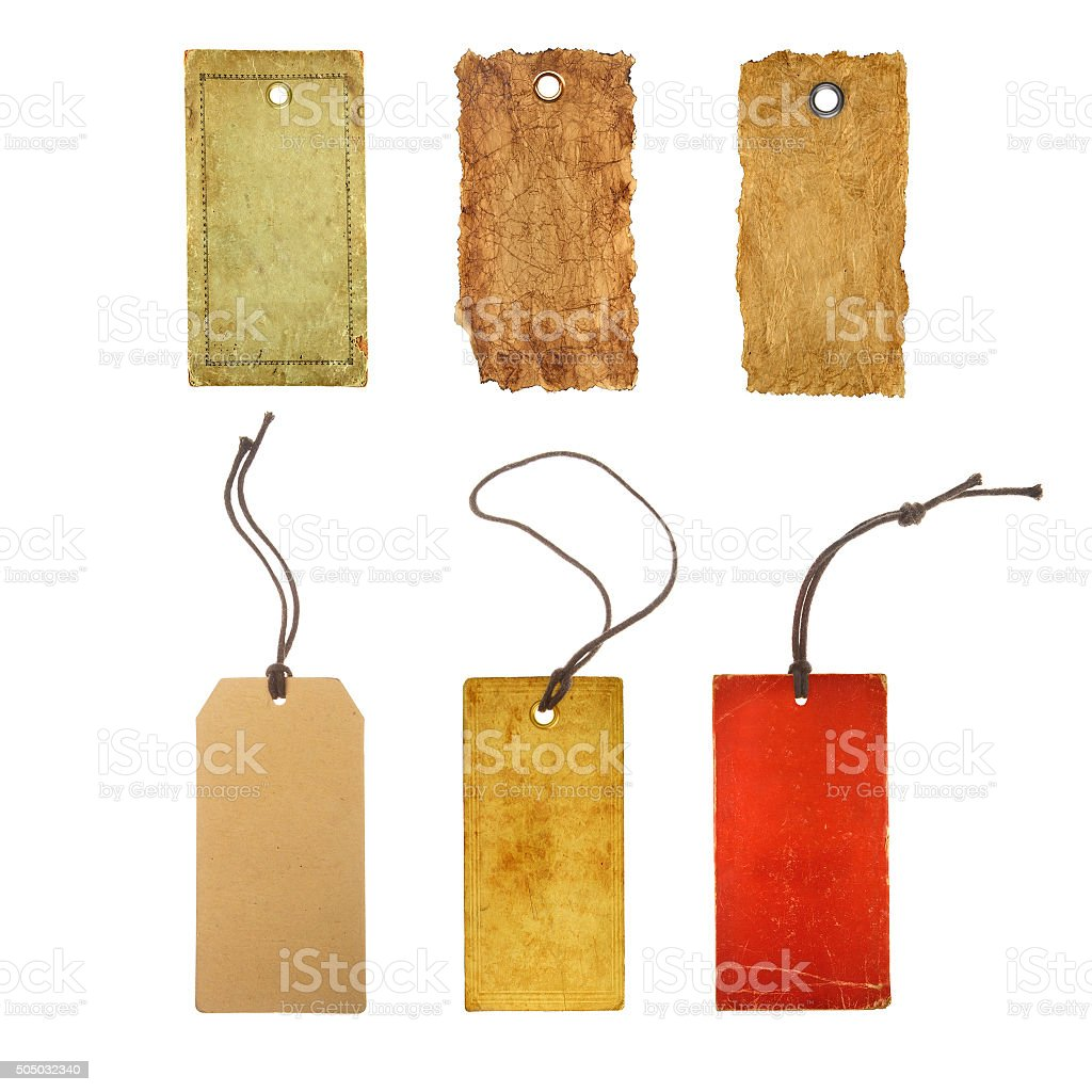 collection paper price tags stock photo