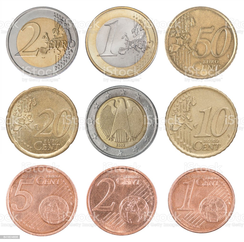 Collection set euro stock photo