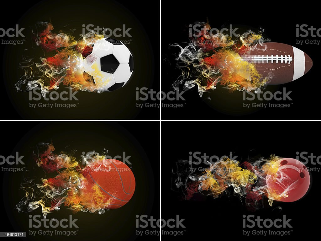 Collection sport balls stock photo