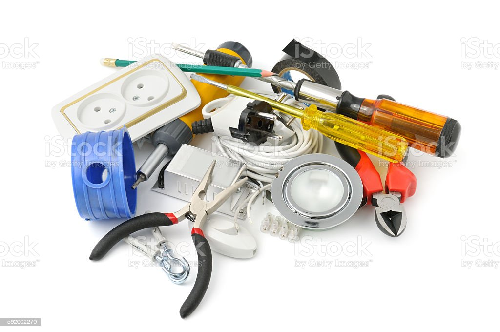 collection tools stock photo