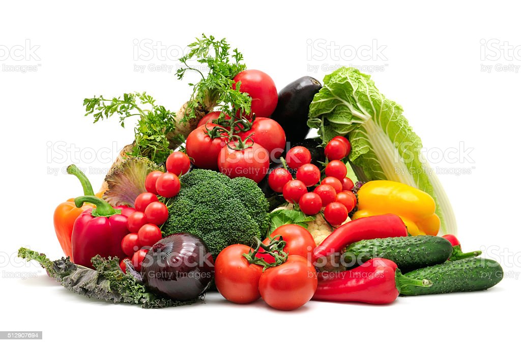 collection vegetables stock photo