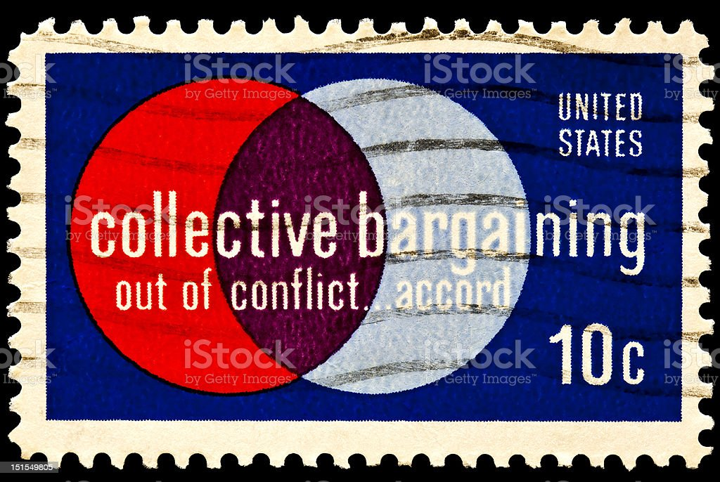 Collective Bargaining Issue stock photo