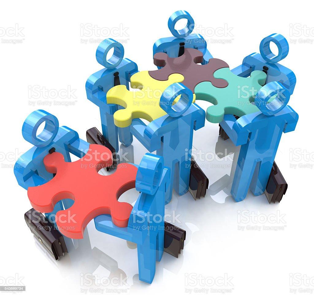 Collective works. Partnership. Teamwork stock photo