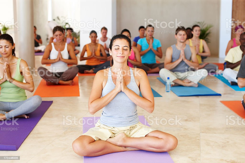 Collectively finding inner peace royalty-free stock photo