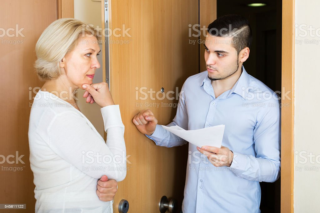 Collector to get the arrears stock photo