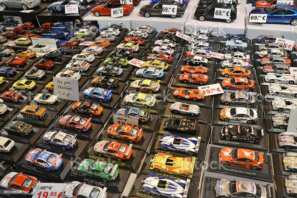 Collectors car models in scale 1/43 stock photo