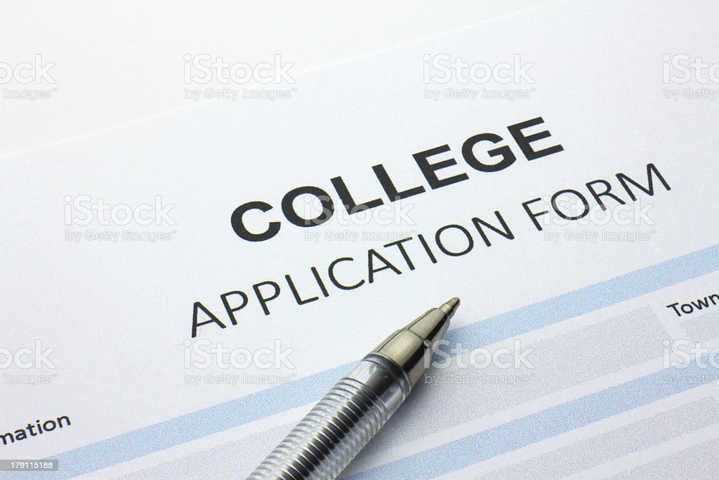 College application form royalty-free stock photo