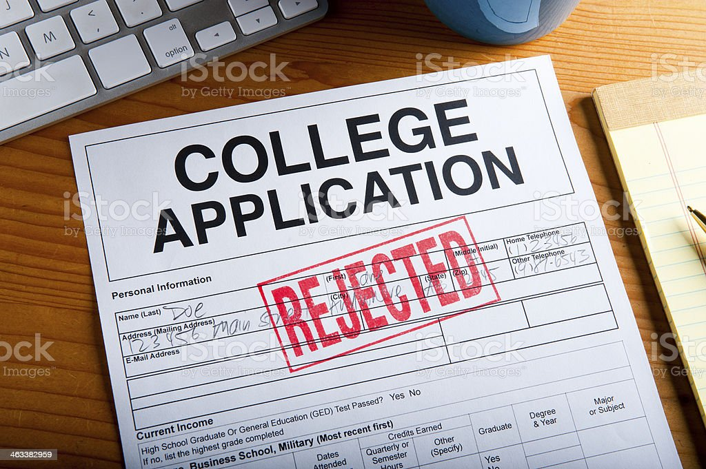 College Application stock photo