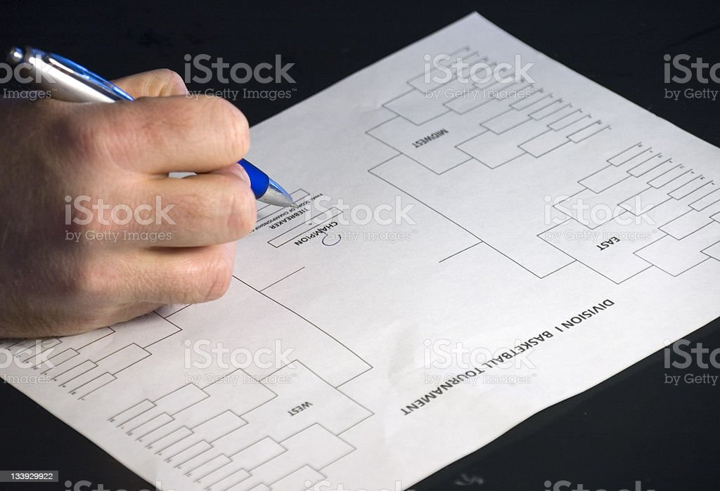 College Basketball March Madness stock photo