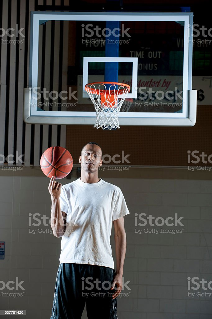 College Basketball Player stock photo