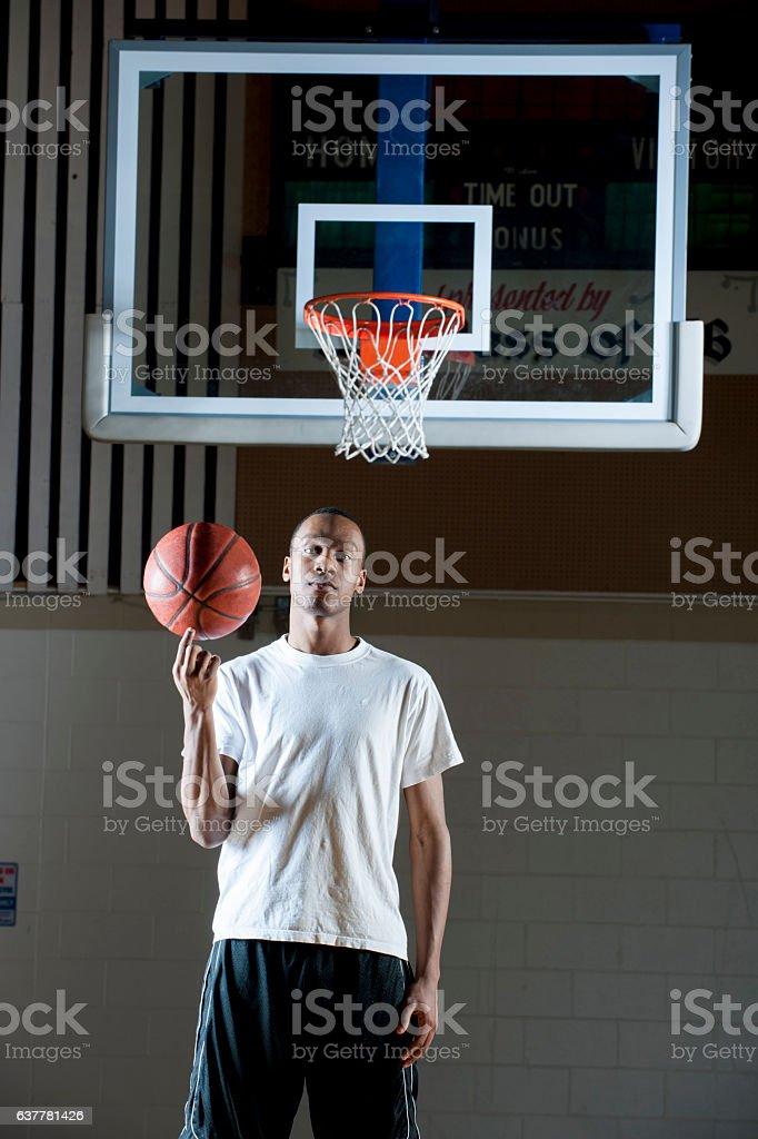 College Basketball Player stock photo