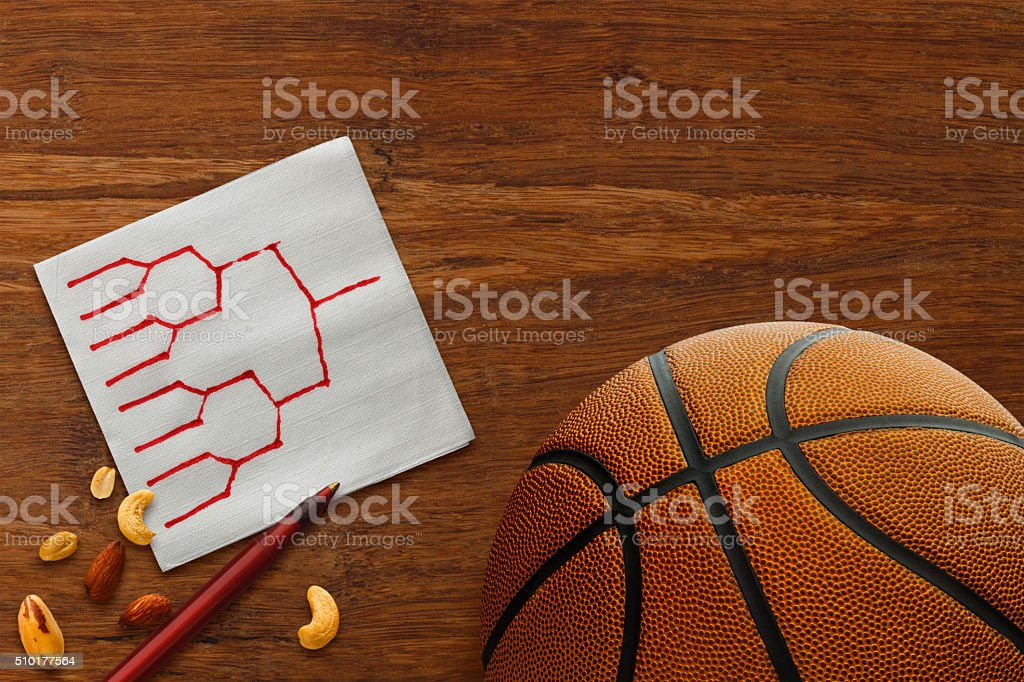 NCAA College Basketball Tournament Bracket stock photo