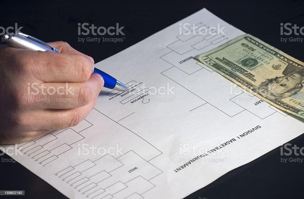 College Basketball Tournament Selections royalty-free stock photo
