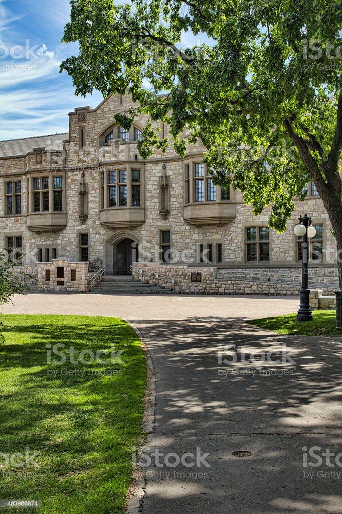 College Building at the University of Saskatchewan stock photo