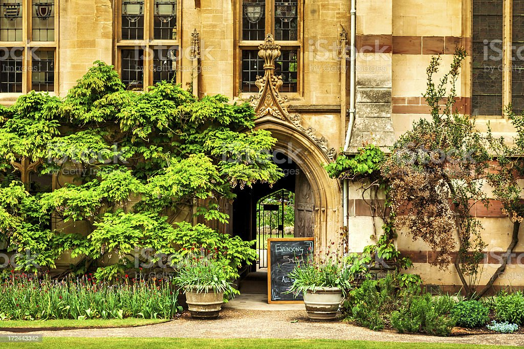 college building in Oxford royalty-free stock photo