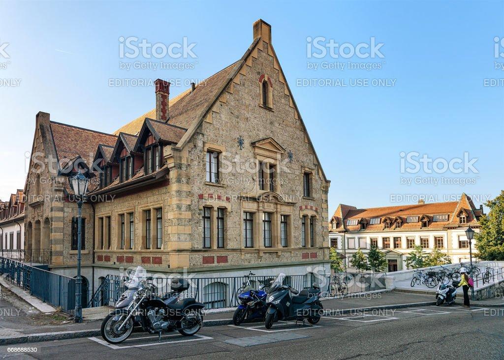 College Calvin secondary school of Geneva Swiss stock photo