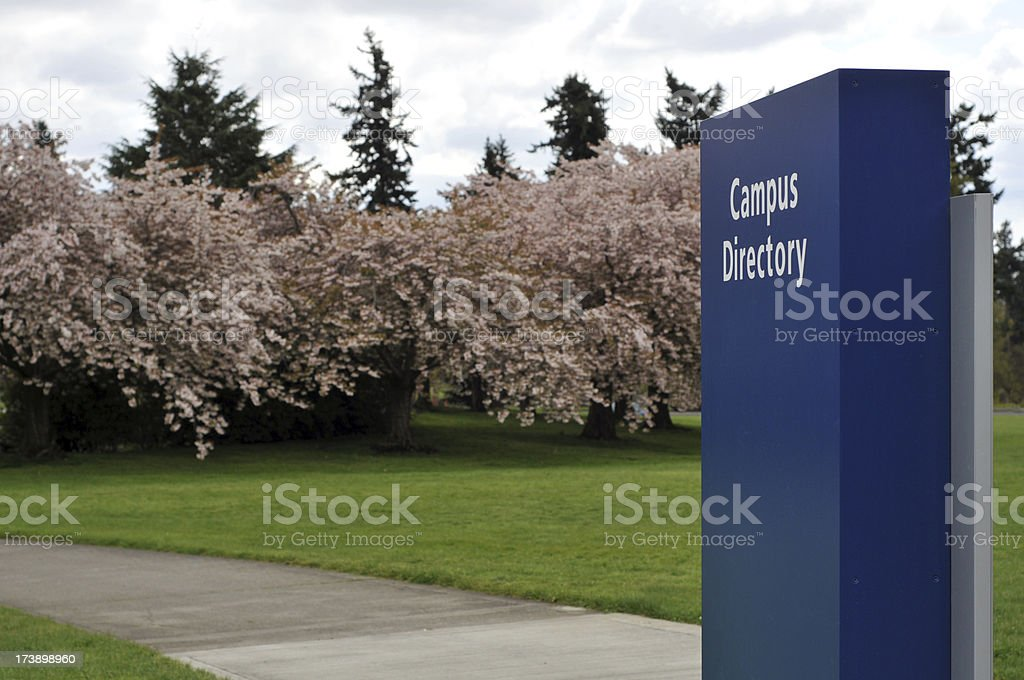 College Campus in the Spring royalty-free stock photo
