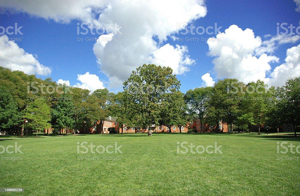College campus stock photo