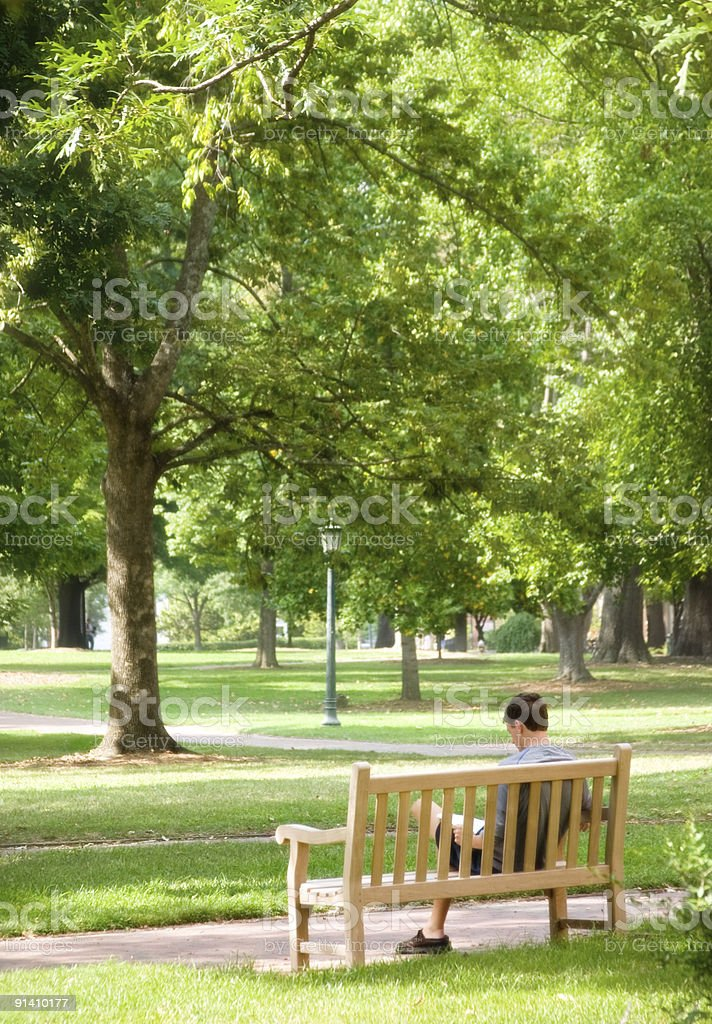 College Campus: Relaxation royalty-free stock photo