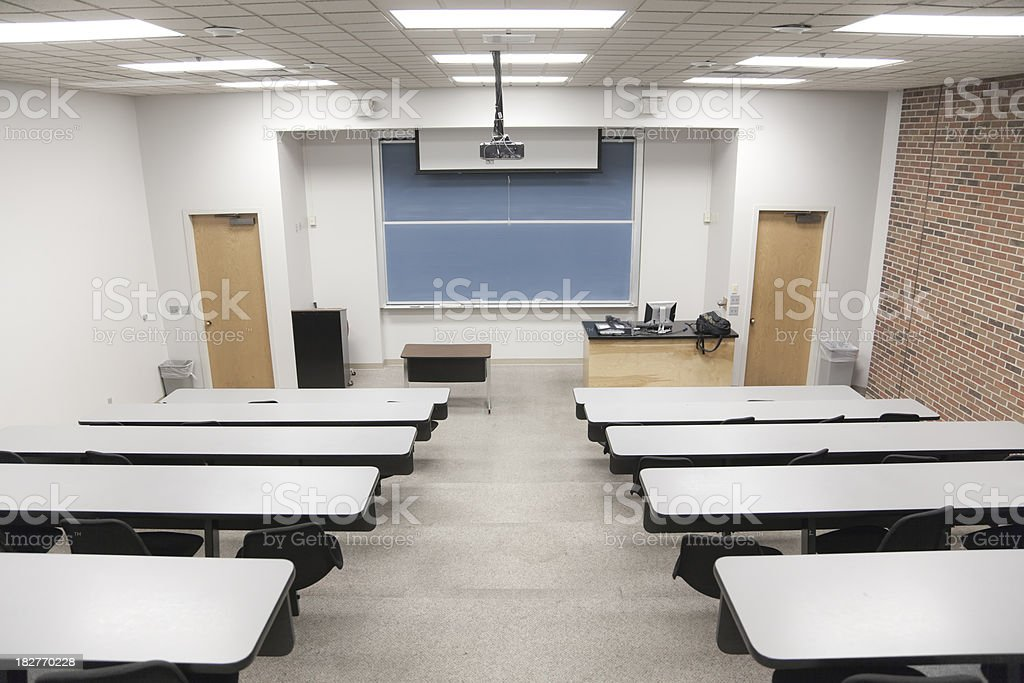 College Classrom royalty-free stock photo