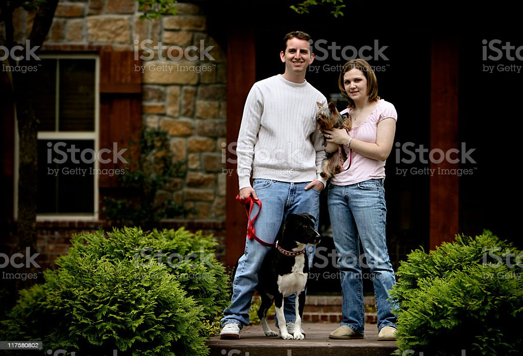 College Couple Portraits royalty-free stock photo