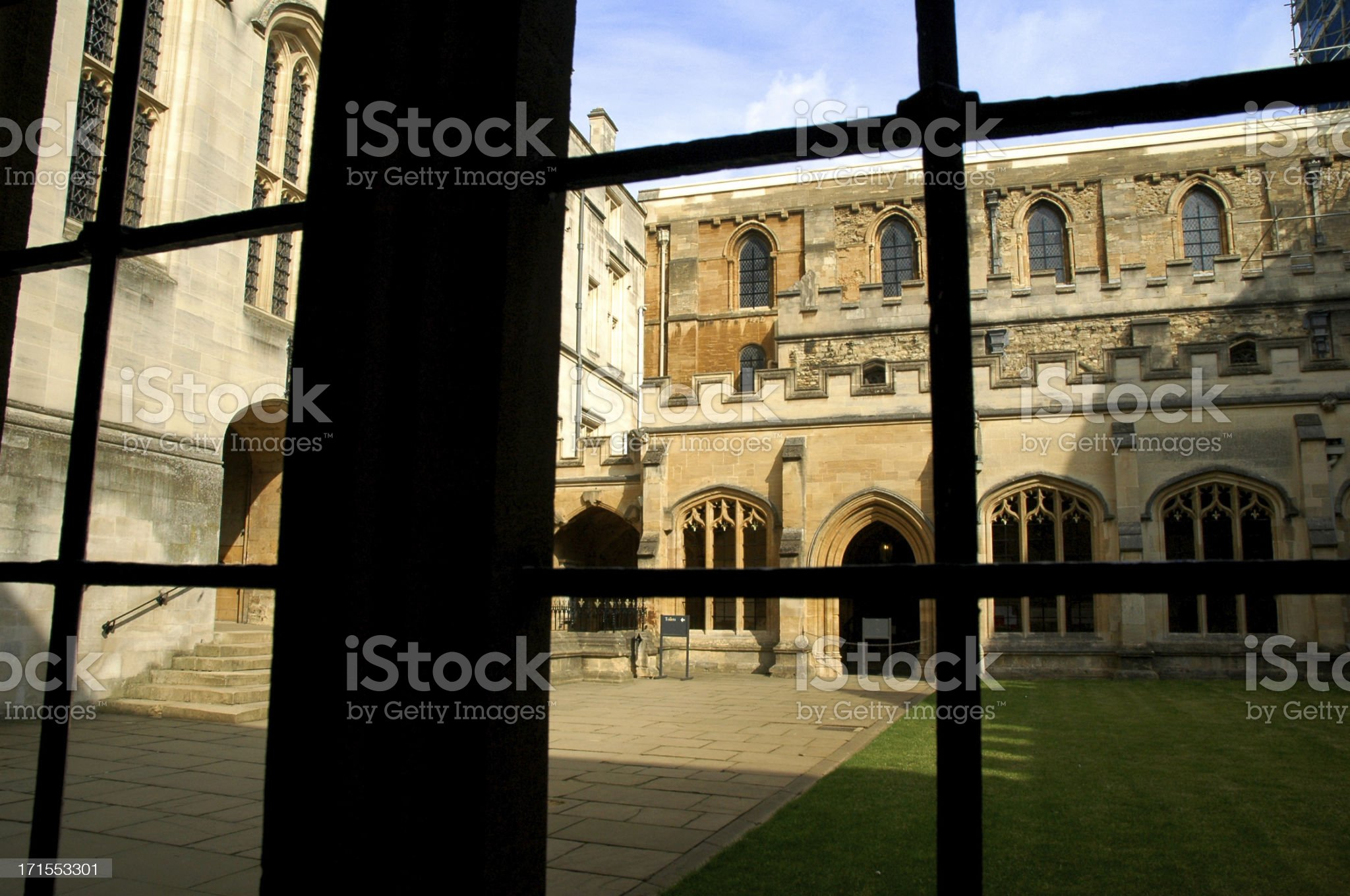 College Courtyard Oxford royalty-free stock photo