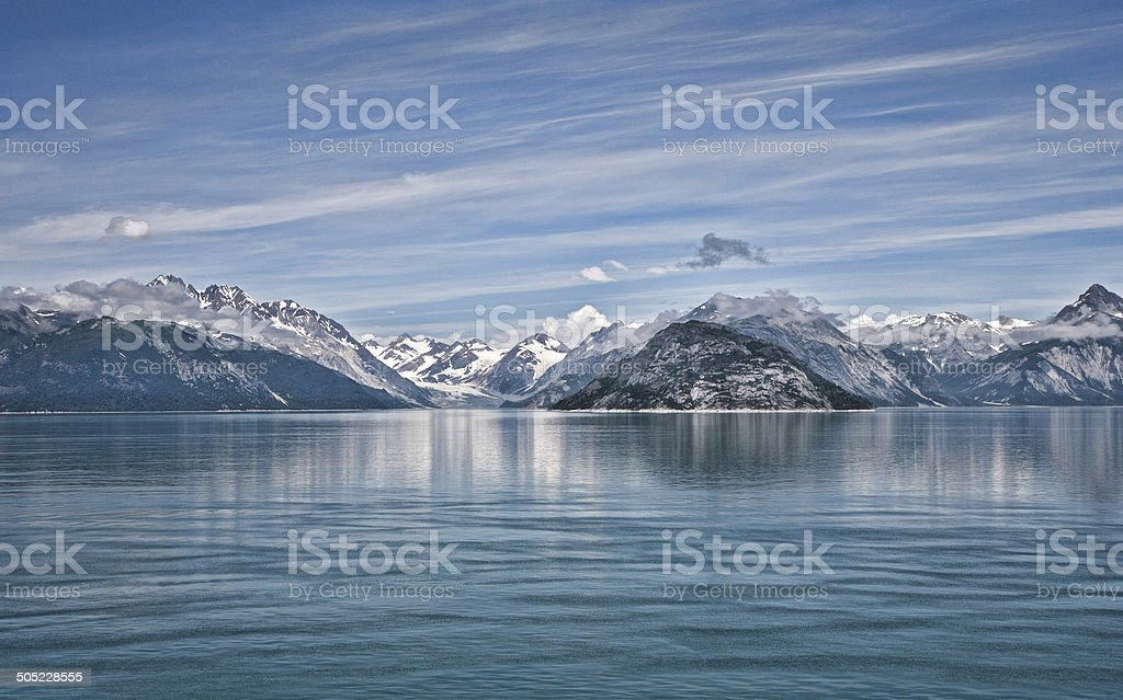 College Fjord at Dawn stock photo