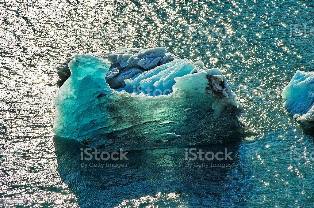 College Fjord Iceflow Glacier Ice stock photo