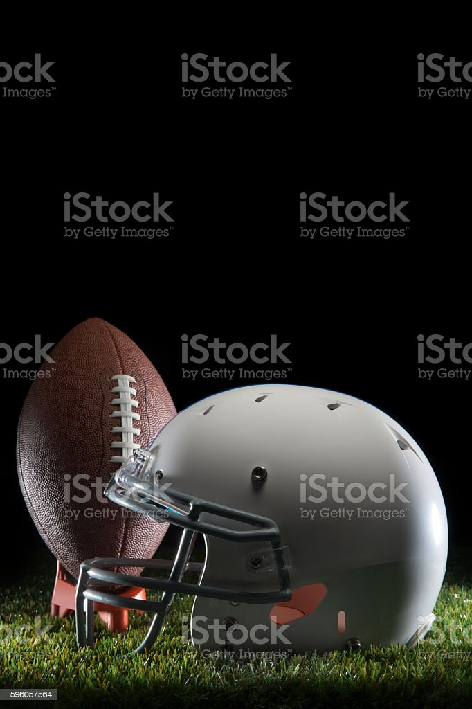 College Football and Helmet stock photo